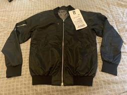 11 BY BORIS BIDJAN SABERI Bomber Jacket Black Size Small