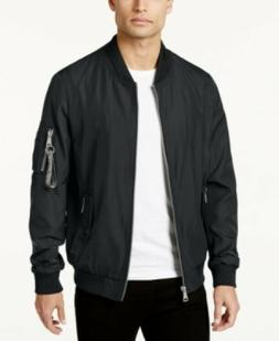 $175 Calvin Klein Black Panorama Flight Bomber Jacket Mens 3