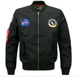 2020 Fashion US MEN NASA JACKET EMBROIDERED MILITARY ARMY FL