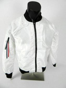 $54 Mens Southpole Bomber Flight Lightweight Jacket in White
