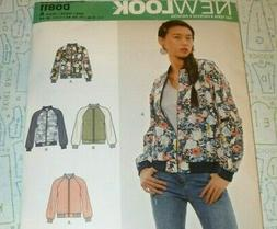 6545 0811 misses bomber jacket coat sewing