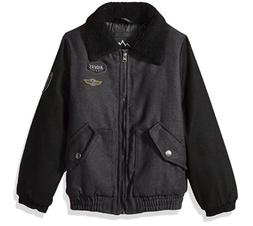 Ixtreme Outfitters Boys Wool Bomber Jacket with Sherpa Colla