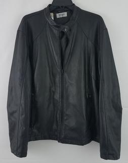 Kenneth Cole Reaction Men's Rocco Faux Leather Bomber Jacket