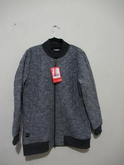 THE NORTH FACE Gray Heather Insulated Quilted Long Mod Bombe