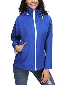 Women's Lightweight Casual Jackets Waterproof Packable Bombe
