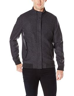Ted Baker Men's Adam Wool Bomber Jacket, Charcoal, 4/Large