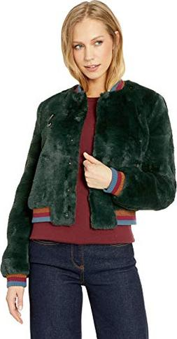 Ted Baker Women's Colour by Numbers Aether Faux Fur Bomber J