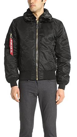 Men's Alpha Industries B-15 Removable Faux Fur Collar Flight