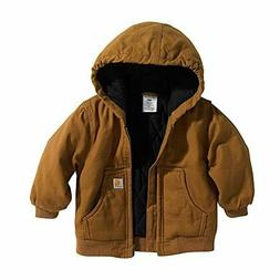 baby boys active quilted flannel lined jacket