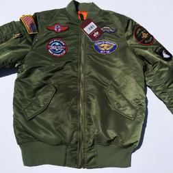 Alpha Industries Big Boys' MA-1 Bomber Jacket with Patches S