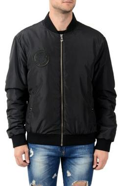 Versace Collection Black  Men's Insulated Bomber Jacket US X