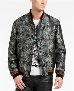 Just Cavalli Black Savana Print Bomber Jacket Multi Mens 48