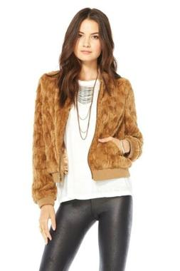 BNWT  Chaser Faux Fur Bomber Jacket SIZE XS