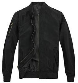 MADHERO Men's Bomber Jacket Lightweight Flight Jacket Coat