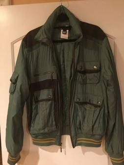 BOMBER STYLE HUNTER GREEN JACKET BY ROBERTO CAVALLI/JUSTCAVA