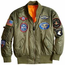 Alpha Industries Boys' MA-1 Bomber Jacket with Patches