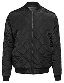 Youstar Classic Quilted Padded Bomber Jacket Black2 Size L