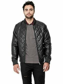 GUESS Factory Men's Brice Quilted Bomber Jacket