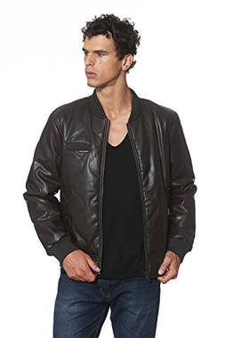 Members Only Faux Leather Oval Quilted Bomber