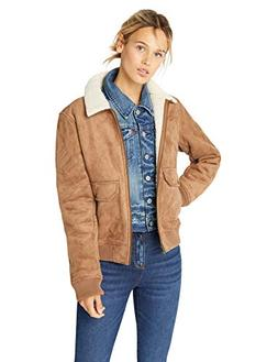 Levi's Women's Faux Leather Sherpa Aviator Bomber Jacket, Ca