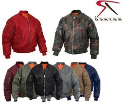 Rothco Flight Jacket Military Style MA-1 Reversible Bomber C