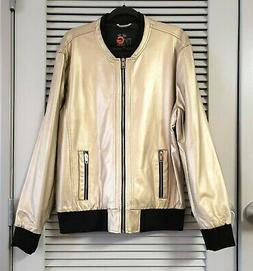 G by Guess gold faux leather bomber jacket XL urban outfit c