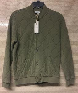 Lucky Brand Green Quilted Cotton Bomber Jacket Womens Size S