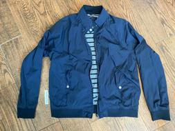 GAP HARRINGTON STYLE MEN'S BOMBER JACKET in NAVY - Size LARG