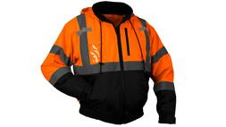Pyramex Hi-Vis Class 3 Insulated Safety Bomber Reflective Ja