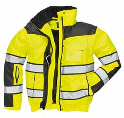 PORTWEST HI-VIS CLASSIC BOMBER JACKET SIZE S-5X YELLOW ORANG