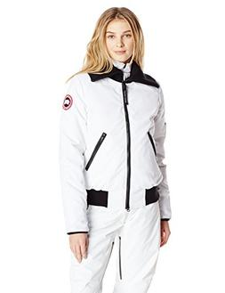 Canada Goose Women's Huron Bomber Jacket, White, Small