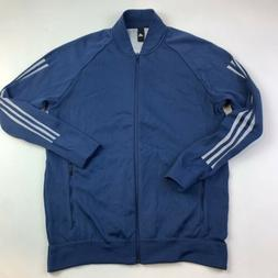 Adidas ID Knit Bomber Track Top Jacket Men's  Blue $120.00