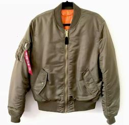 Alpha Industries MA-1 Slim Fit Flight Jacket Vintage Green S