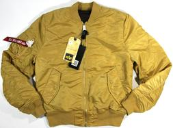 ALPHA INDUSTRIES ma-1 Slim Fit Flight Jacket- NEW- $150- cam