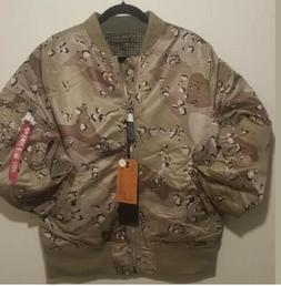 Alpha Industries Men's Bomber Double Camo Reversible Jacket