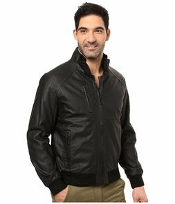 Calvin Klein jacket Faux Leather Perforated Bomber Mineral b