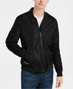 Calvin Klein Jeans Men's Bomber Jacket, Black, Medium
