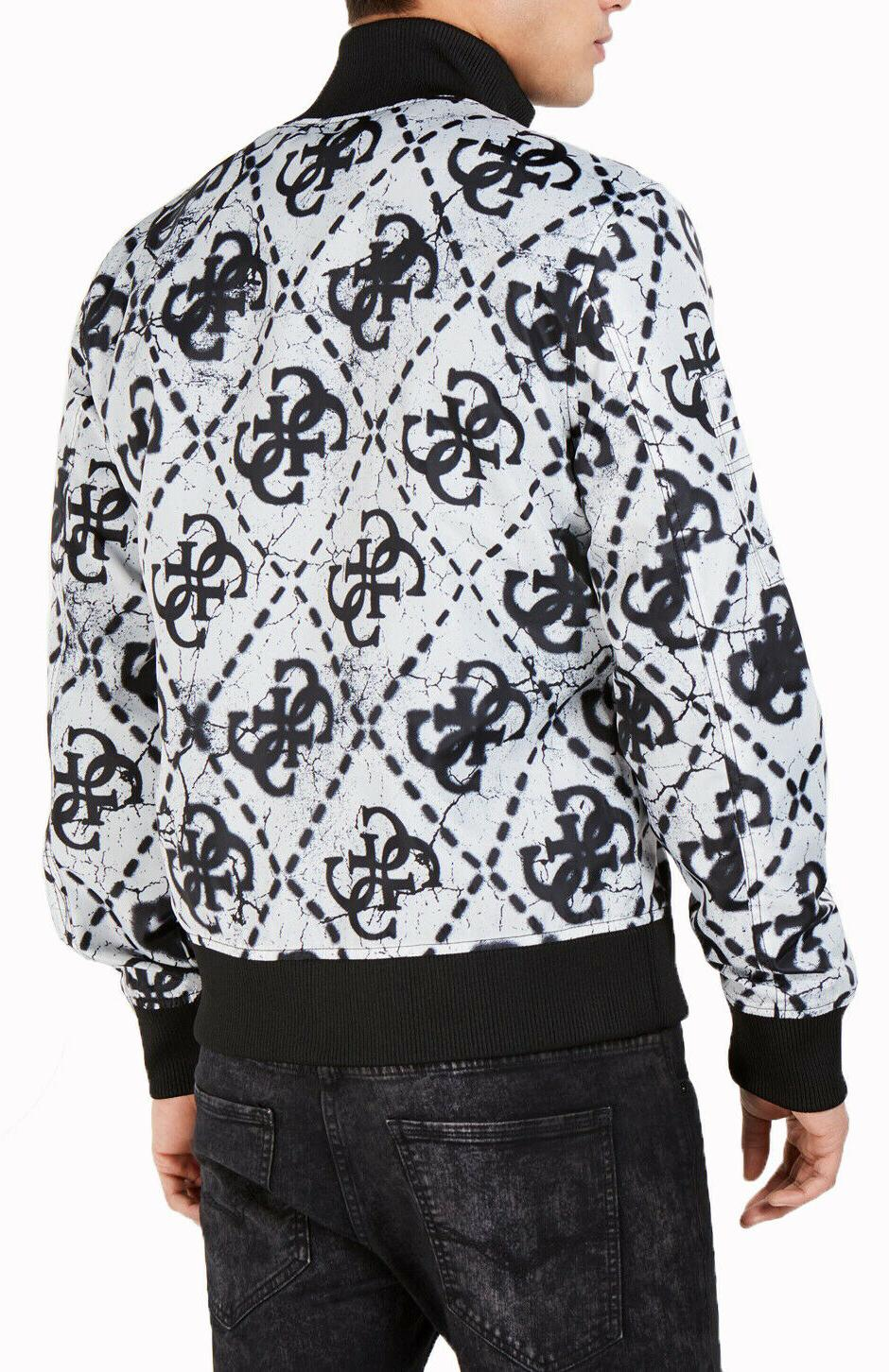 $150 New Guess Quilted Pattern Full Zip Bomber M