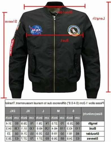 2020 NASA JACKET EMBROIDERED ARMY FLIGHT BOMBER JACKET