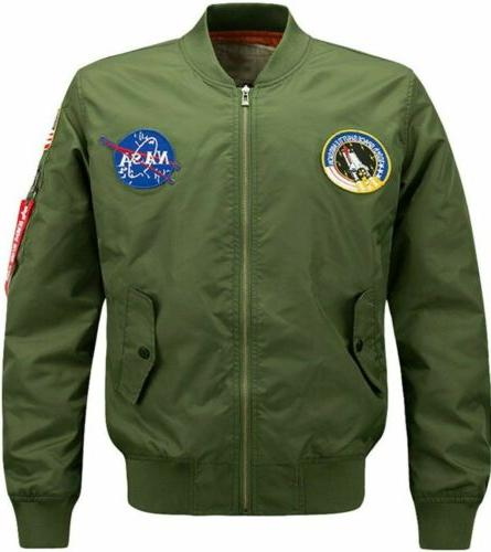 2020 fashion us men nasa jacket embroidered