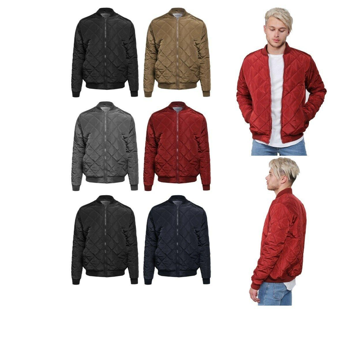 FashionOutfit Men's Warm Casual Classic Quilted Padded Bombe