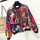 Queen Embroidery Bomber Jacket Women Harajuku Pilot Jacket C