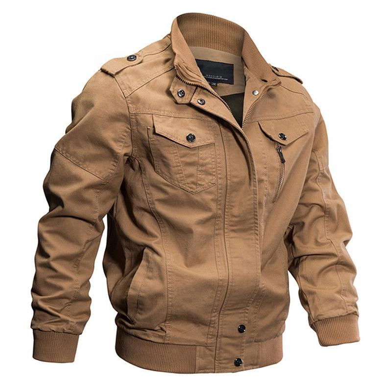 TACVASEN Men's Bomber Jacket Coats Force Flight