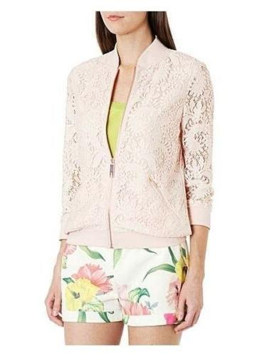 Ted Baker Women's Zairah Lace  bomber jacket In Nude Pink