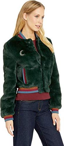Ted Women's by Fur Bomber Jacket Green 1