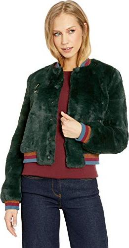 aether faux fur bomber jacket