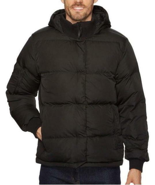 The North Face Down Jacket Mens Large Black Hooded