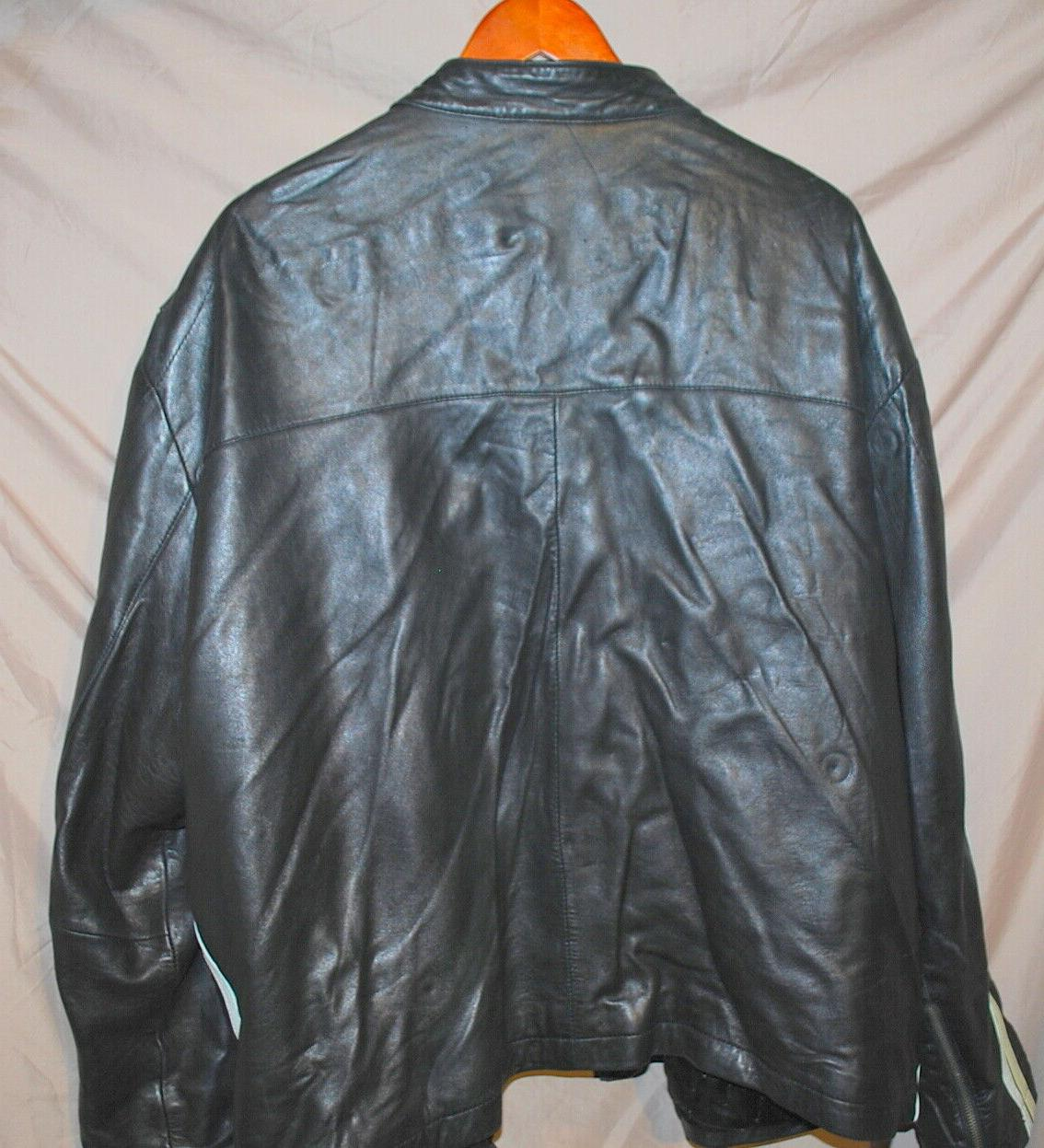 Charles Klein Leather Motorcycle Bomber Jacket 3XL
