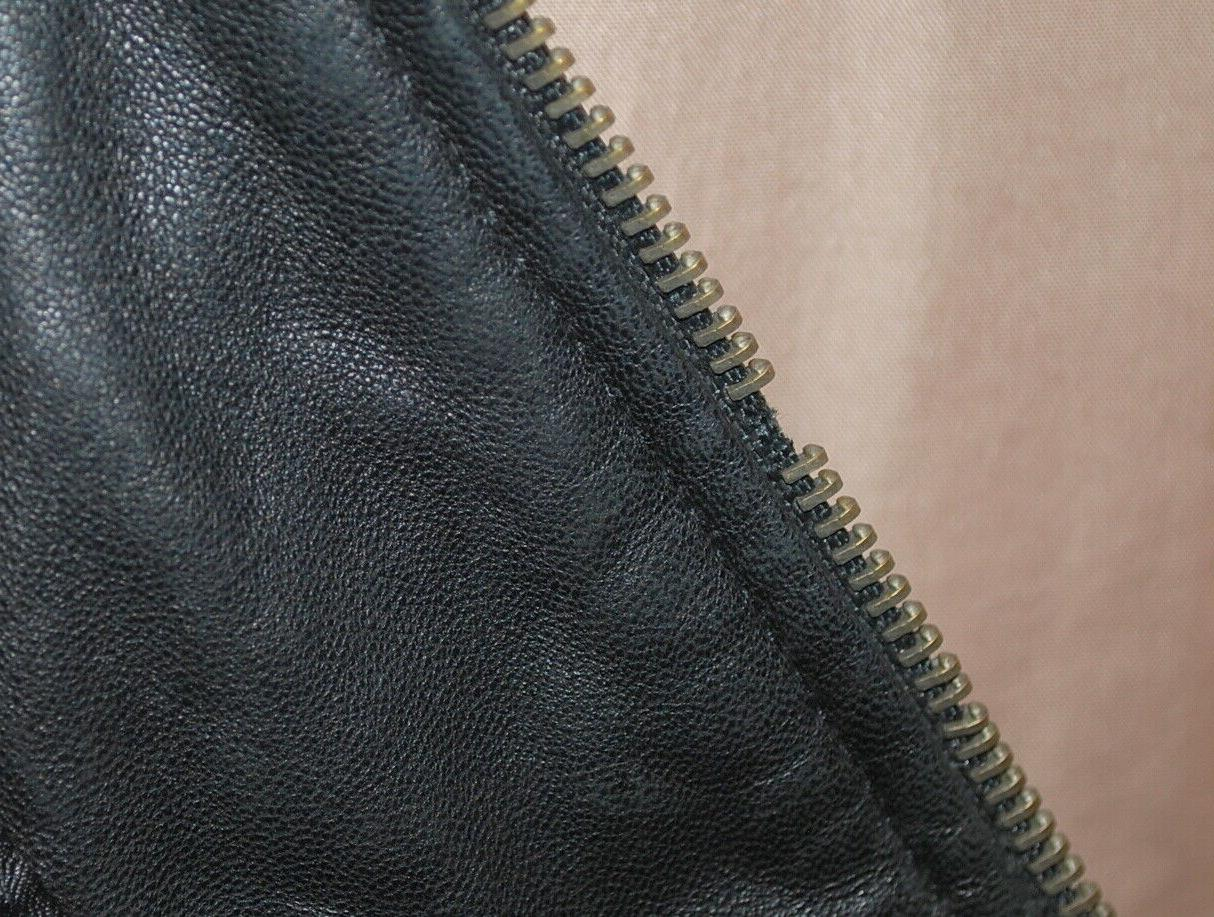 Charles Klein Black Leather Motorcycle Bomber 3XL - Distresseed
