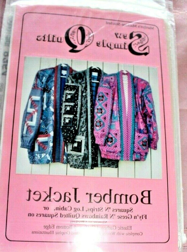 bomber jacket pattern adult size s xl